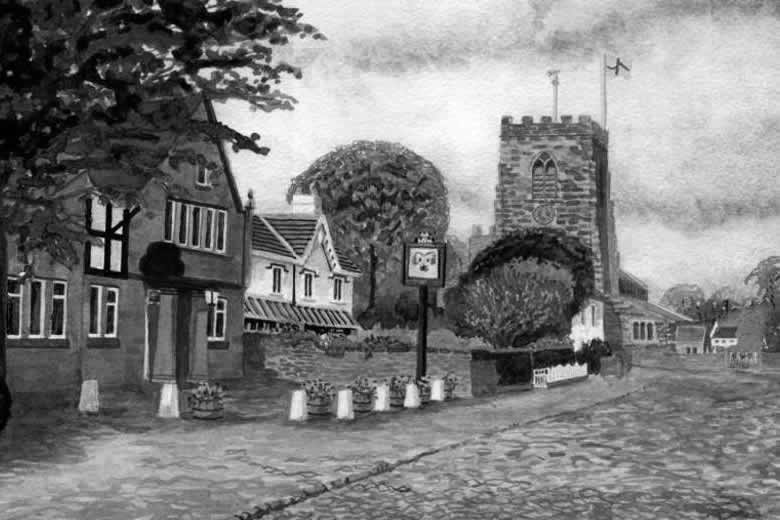 GRAPPENHALL painted by DAVID APPLEYARD