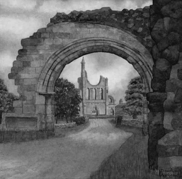 BYLAND ABBEY painted by DAVID APPLEYARD