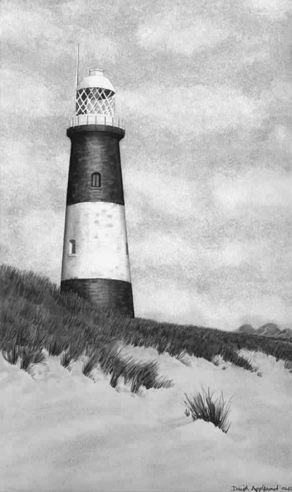 SPURN POINT LIGHTHOUSE painted by DAVID APPLEYARD