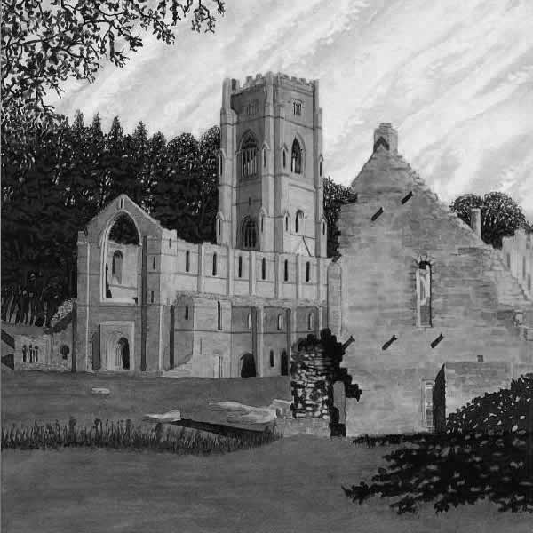 FOUNTAINS ABBEY painted by DAVID APPLEYARD