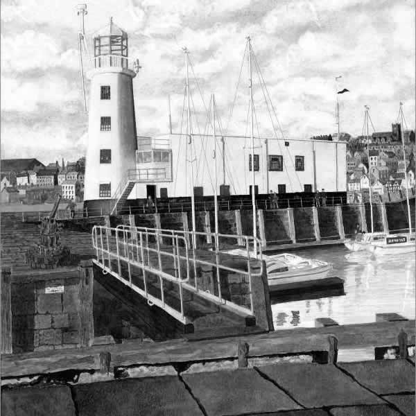 SCARBOROUGH LIGHTHOUSE painted by DAVID APPLEYARD