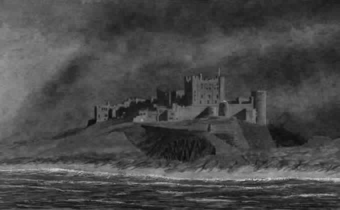 BAMBURGH CASTLE painted by DAVID APPLEYARD