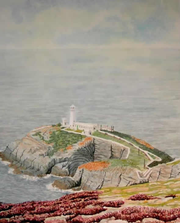 SOUTH STACK LIGHTHOUSE, ANGLESEY painted by DAVID APPLEYARD