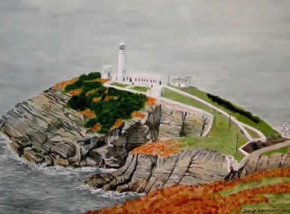 SOUTH STACK LIGHTHOUSE, ANLESEY painted by DAVID APPLEYARD
