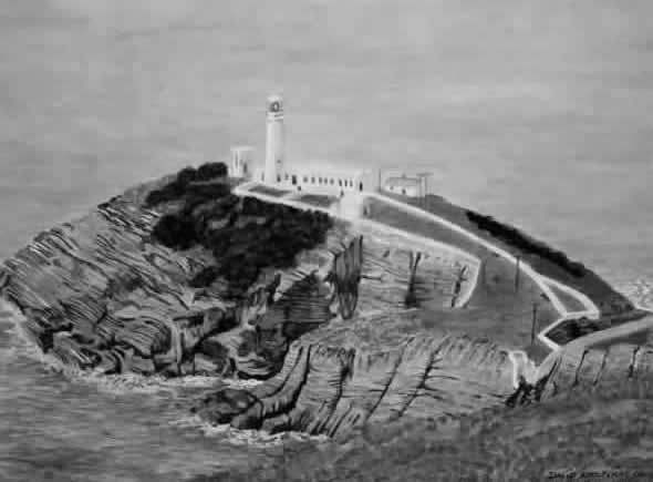 SOUTH STACK LIGHTHOUSE painted by DAVID APPLEYARD