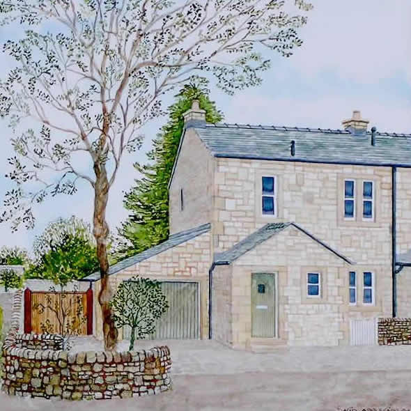HOUSE PORTRAIT painted by DAVID APPLEYARD