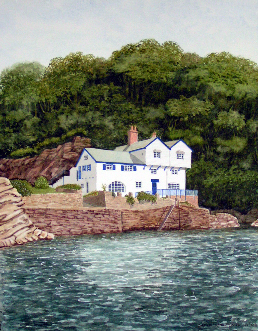 DAPHNE DU MAURIER'S COTTAGE, FOWEY, CORNWALL painted by DAVID APPLEYARD
