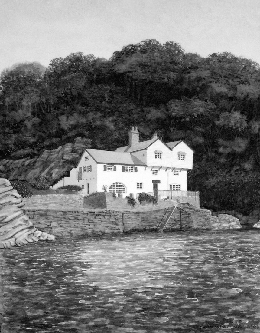 DAPHNE DU MAURIER'S HOUSE, FOWEY painted by DAVID APPLEYARD