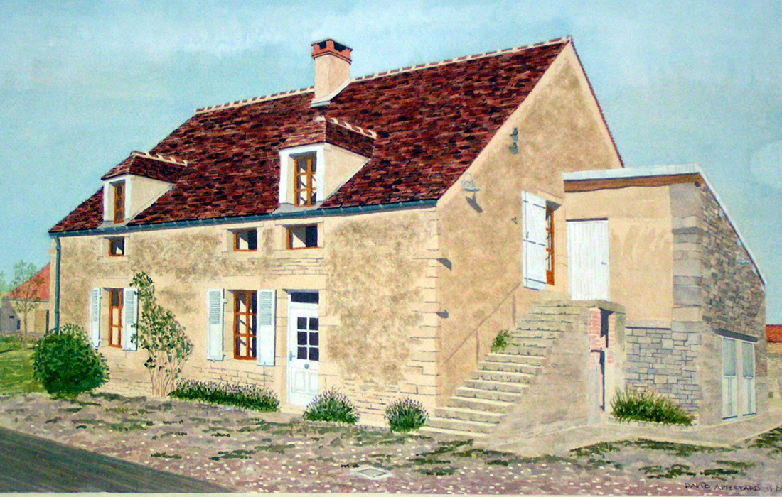 COTTAGE, MISSERY, FRANCE painted by DAVID APPLEYARD