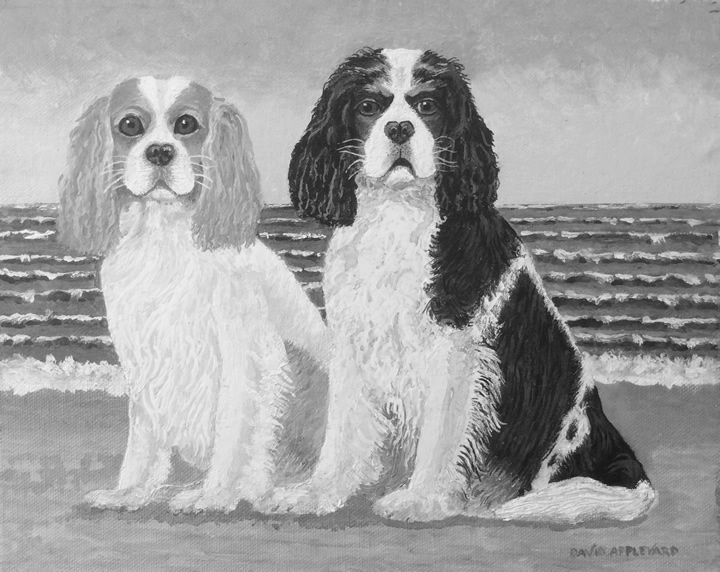 SKY AND CHESTER painted by DAVID APPLEYARD