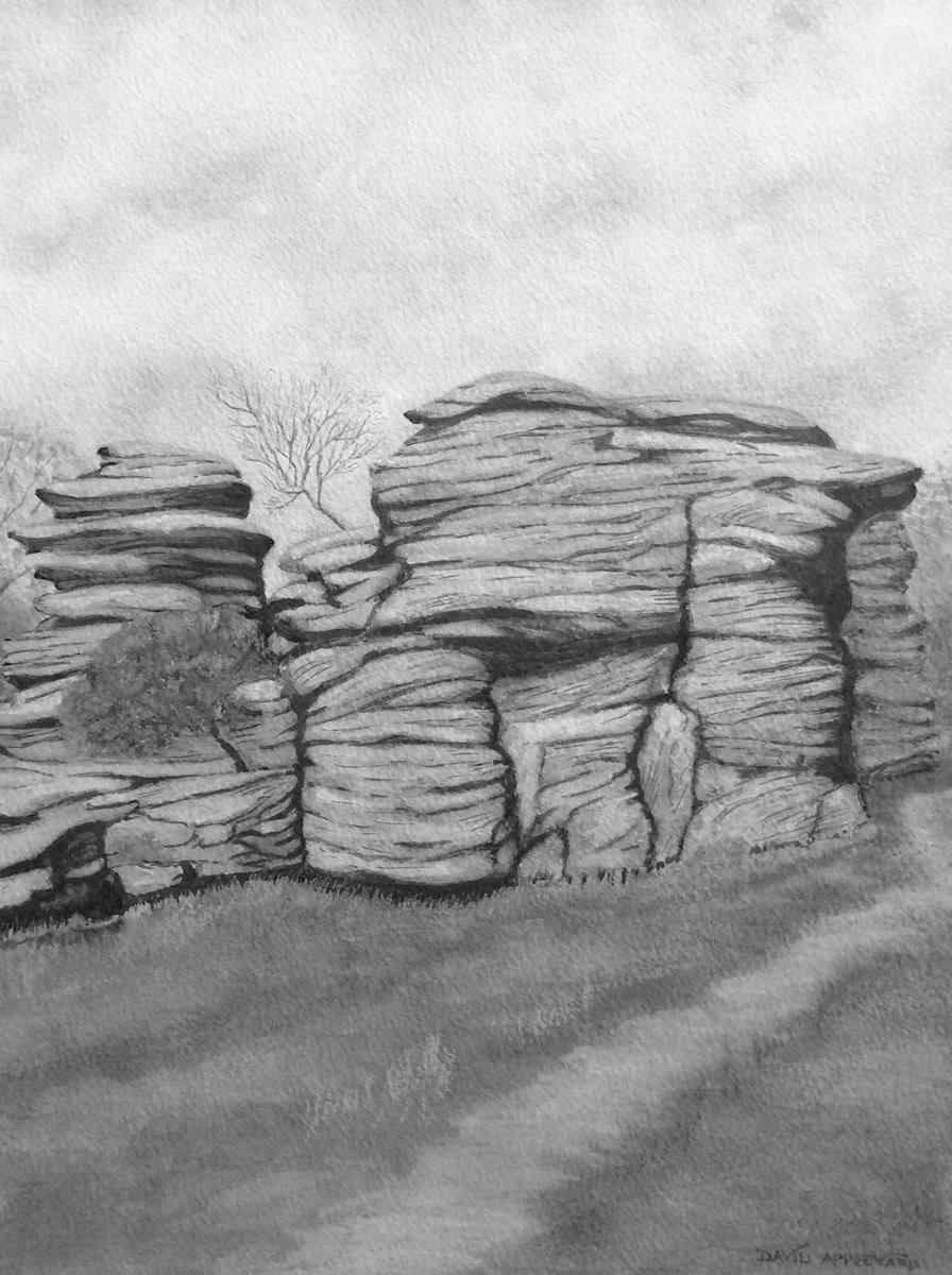 BRIMHAM ROCKS painted by DAVID APPLEYARD
