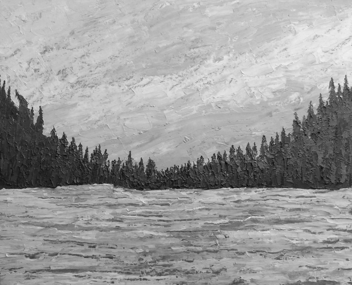 CANADIAN ESTUARY painted by DAVID APPLEYARD